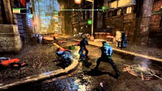 Batman Arkham City: CatWomen free roam gameplay