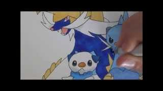 pokemon drawing 98 oshawott, dewott, and samurott