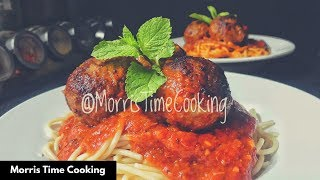 HOMEMADE SPAGHETTI & MEATBALLS | Continuation & Final | Lesson #133 | Morris Time Cooking