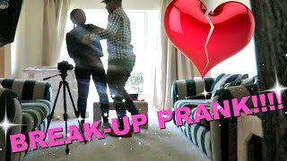 BREAK UP PRANK ON BOYFRIEND GONE WRONG!! (PUNCHES WALL)