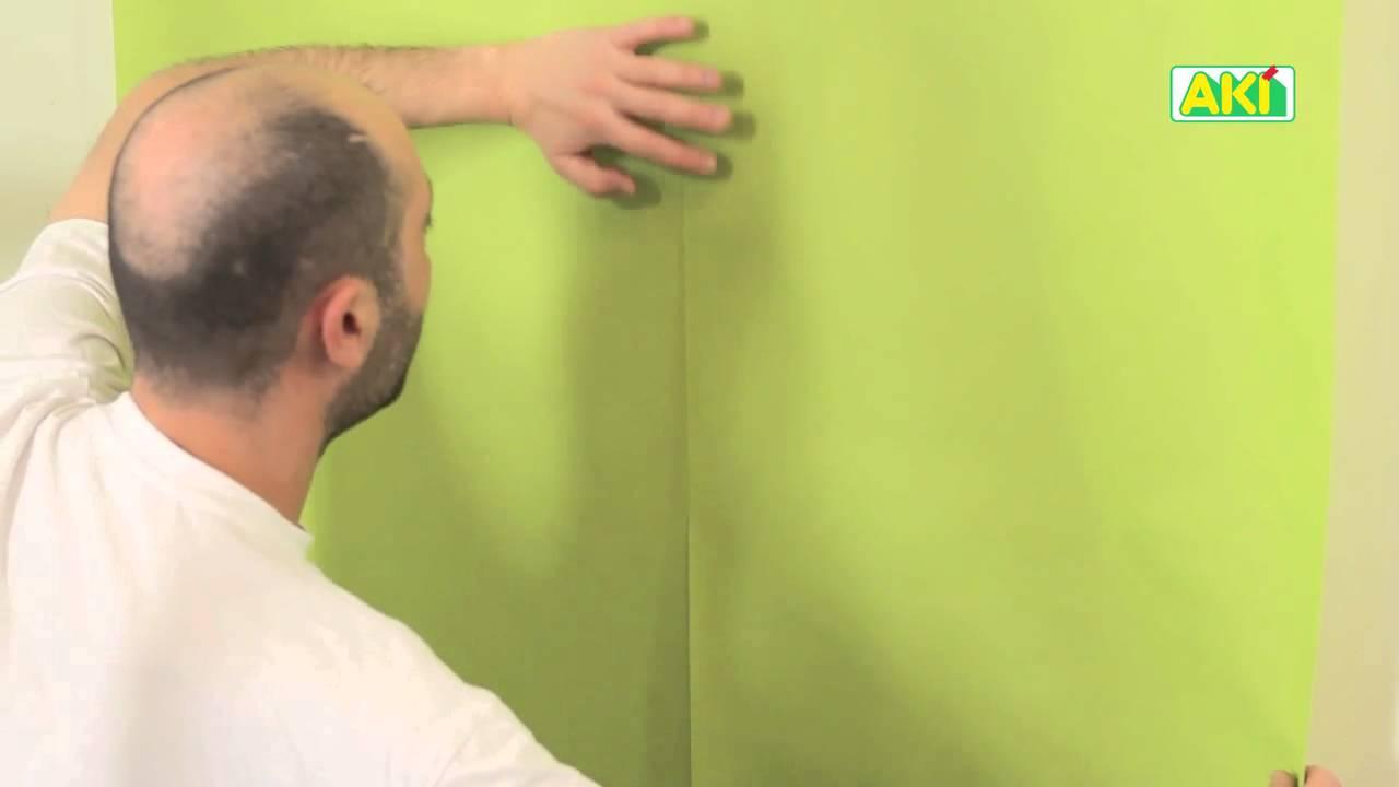Aki f cil colocar papel de parede youtube - Papel infantil para paredes ...