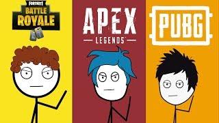 Fortnite Gamers Vs Apex Legends Gamers Vs PUBG Gamers
