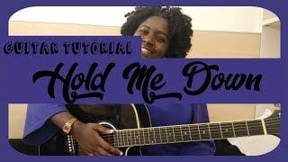 HOLD ME DOWN  - DANIEL CAESAR   GUITAR TUTORIAL