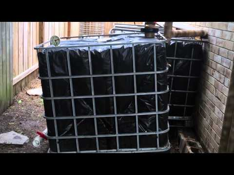 Step 7 - IBC Rainwater Harvesting System - Cleaning Out Organic Build Up