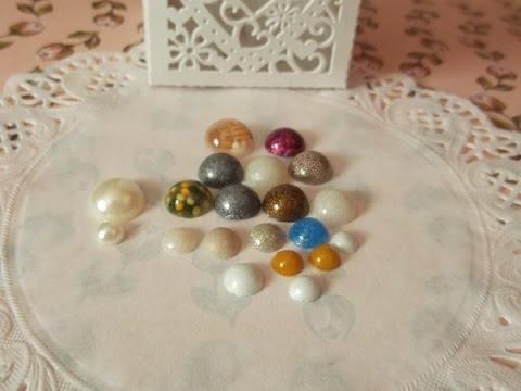 DIY Flat back Pearls in resin  (Tutorial, How too)