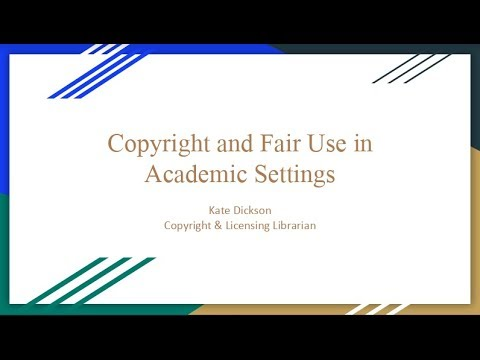 Fair Use and Copyright in Education