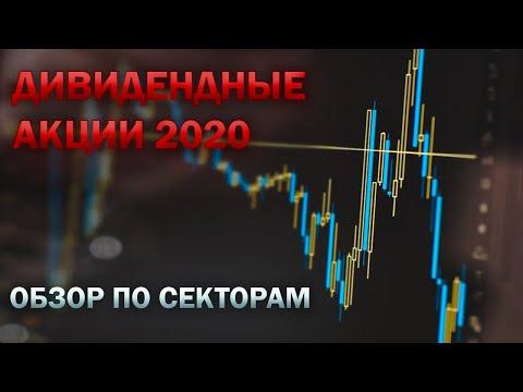 Дивидендные акции 2020. Обзор по секторам. Дивиденды лето 2020. Инвестиции 2020.  фондовый рынок РФ