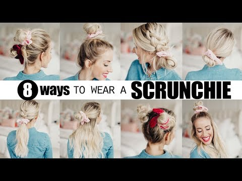 8-cute-scrunchie-hairstyles!-|-twist-me-pretty