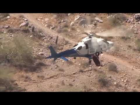 helicopter rescue of injured hiker