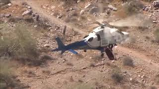 Video shows helicopter rescue of injured hiker