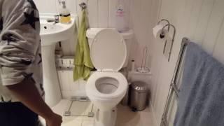 water bottle toilet flip