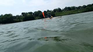 Kayak Sailing with Falcon Sails - Eric Slough and Patrick Forrester Maumee River May 2013 Thumbnail