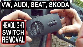 Skoda fabia KOPLAMP met SCHAKELAAR VERWIJDEREN (VW, Audi, Skoda, Seat)