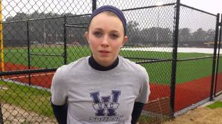 Lauren Moore Preseason Softball Interview: Jan. 13, 2015