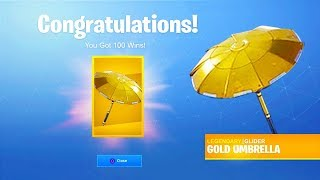 "How To Unlock FREE ""GOLDEN UMBRELLA"" in Season 8! (Fortnite Golden Umbrella Glider)"