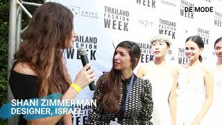 DESIGNER SHANI ZIMMERMAN AT THAILAND FASHION WEEK 2019 | EXCLUSIVE INTERVIEW WITH DE MODE MAGAZINE