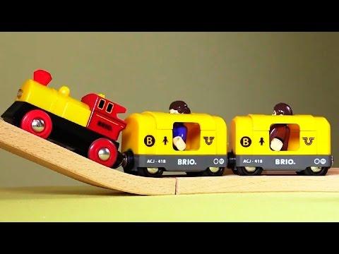 Мультфильм Поезд в Лондон - про игрушечные паровозики Брио