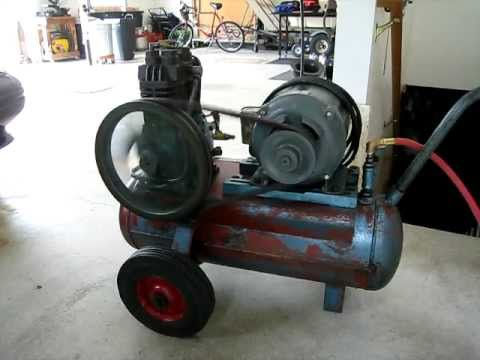 Air Compressor Quincy Model 210 1960 Vintage Youtube
