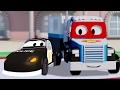 カーシティーのカール・トランスフォーマーとパトカー|車&トラック建設アニメ(子供向け)
