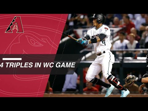 D-backs Collect Four Triples In Wild Card Win