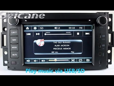 car stereo install upgrade for 2005 2006 Hummer H2 gps navigation bluetooth music 1080P Video
