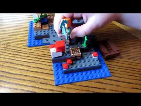 Alex, The Mooshrooms and the Creeper! Lego Minecraft The Mushroom ...