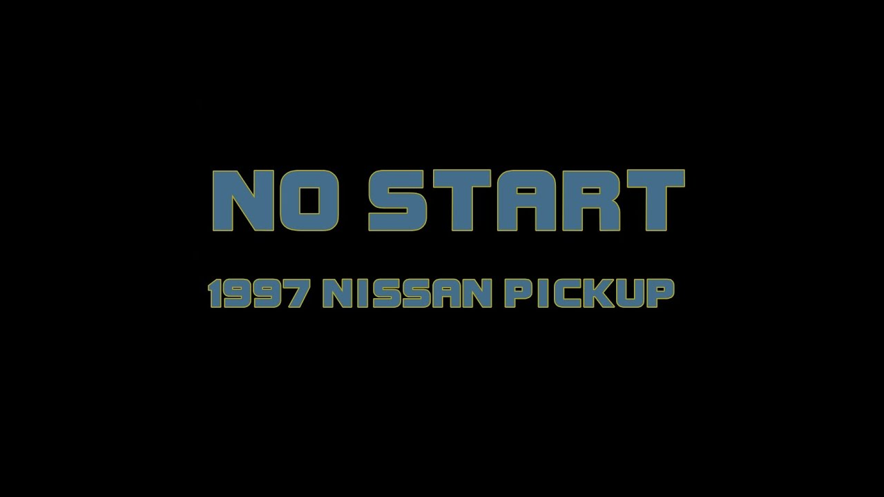 hight resolution of 1997 nissan pickup no start checking spark and injector pulse