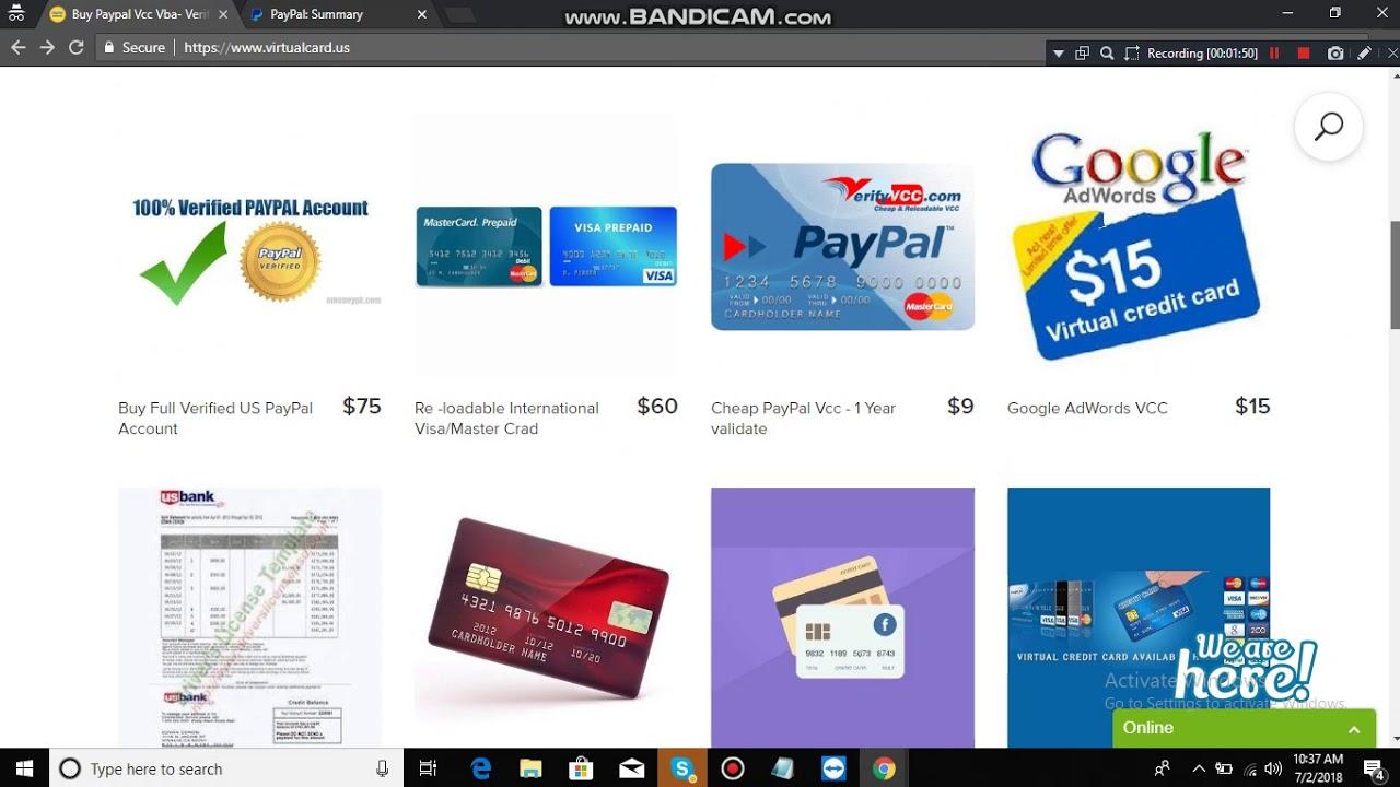 virtual credit card paypal vcc google adword vcc ebay vcc 2018 - Virtual Visa Card Load With Paypal