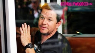 Mark Wahlberg's Wife Rhea Stops By To Visit During Lunch 4.23.15 - TheHollywoodFix.com