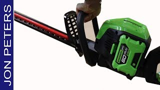 GreenWorks Cordless Hedge Trimmer, Unboxed & Put to Work! & Review