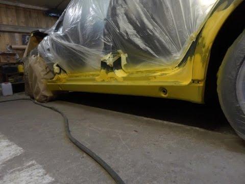 Mercedes-Benz W210 замена порога Часть 2