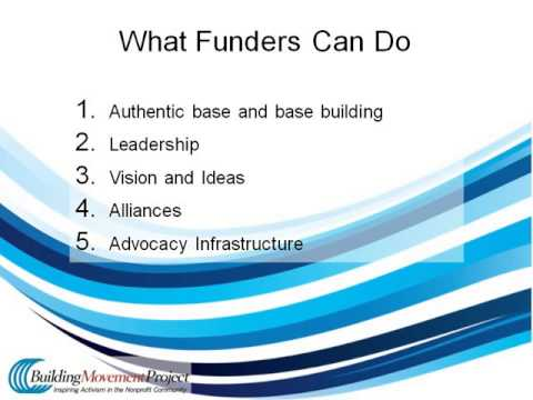 Philanthropy's Role in Movement Building Webinar (05.21.13)