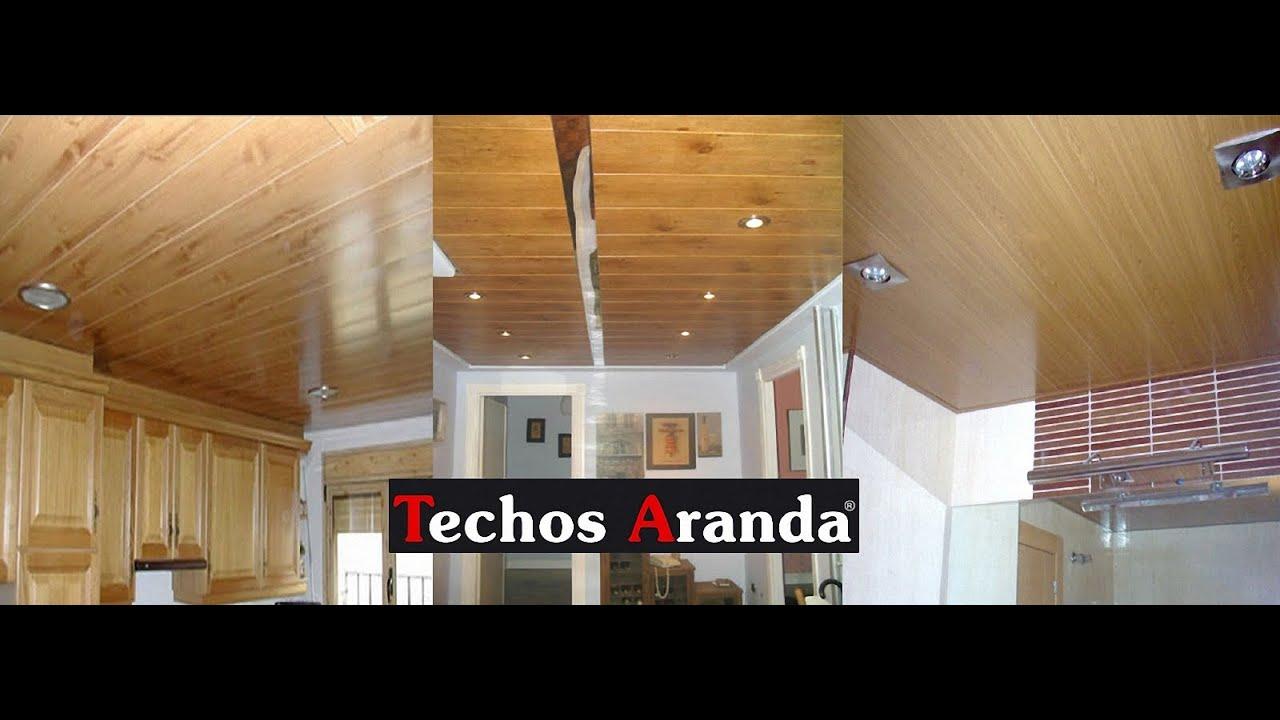 Plafones de madera youtube for Techos de drywall para dormitorios