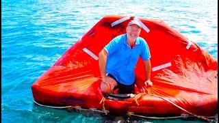 Взрываю Спасательный Плот на Яхте. Яхтинг. КАПИТАН КОСТЯ