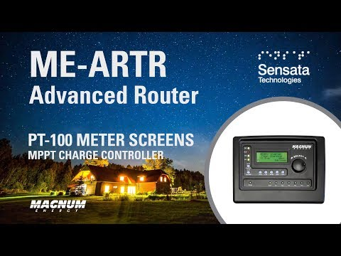 ME-ARTR and the Meter Screens for the PT-100 Charge Controller