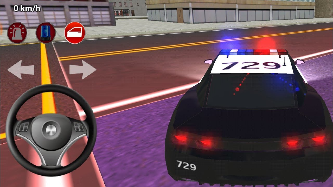 Polis Arabasi Oyunu Araba Oyunlari Police Car Games Youtube