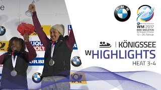 Highlights Heat 3-4 | Meyers Taylor prevails on thin ice | BMW IBSF World Championships 2017