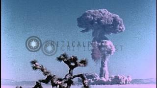 Nuclear Explosion:  View Of Shot Fizeau, At Yucca Flats Location Of The Nevada Te...hd Stock Footage