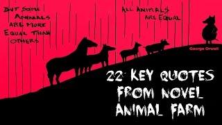 22 Key Quotes from Novel Animal Farm