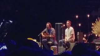 "Eddie Vedder and Matt Cameron ""Just Breathe"" at Pilgrimage Festival 9/24/17"
