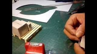 CONSTRUCTION OF SMALL CARDBOARD (BOX) FOR THE GARAGE DIORAMA 1/10 SCALE CRAWLER RC