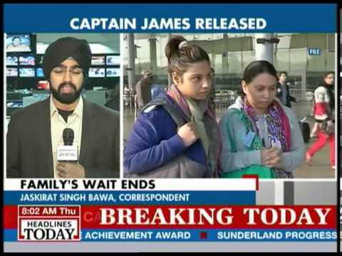Captain Sunil James released from Togo jail