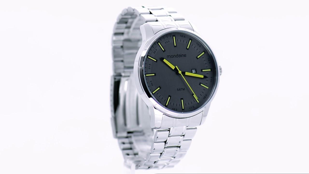 Relógio Mondaine Masculino 78722G0MVNA1 - Eclock - YouTube a3d574ca9f