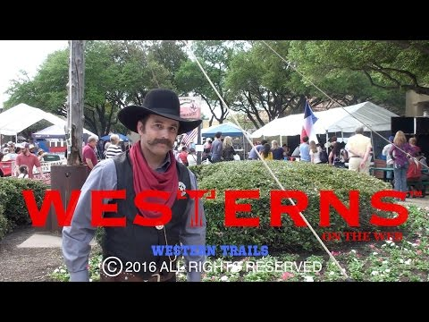 Cowboy Fast Draw Folks in the Fort Worth Stockyards part 1 Western Trails TV show episode