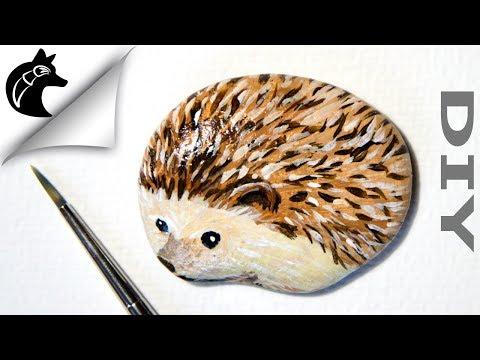 Rock Painting Tutorial For Beginners Hedgehog thumbnail