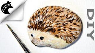 Rock Painting Tutorial For Beginners Hedgehog
