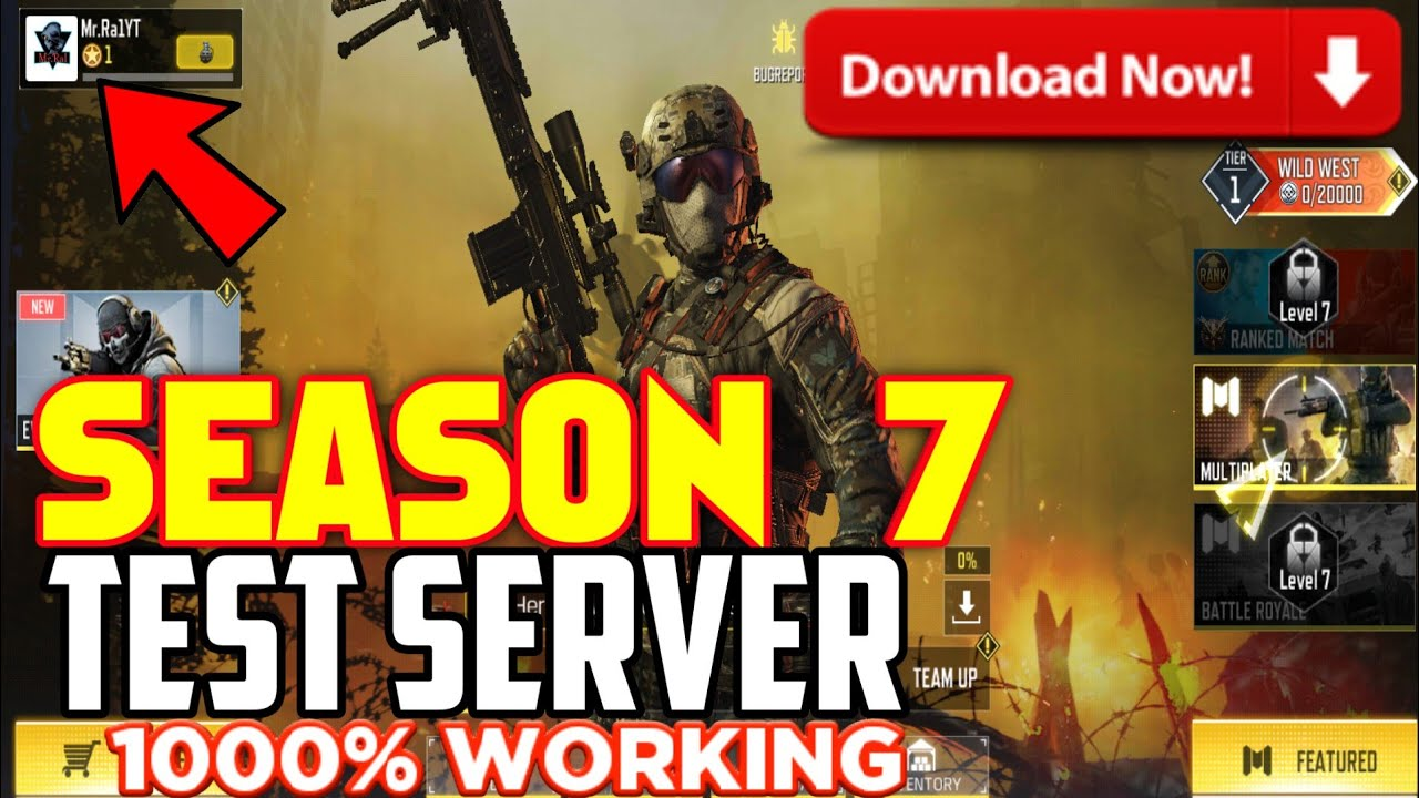 Season 7 Test Server Call Of Duty Mobile Call Of Duty Mobile