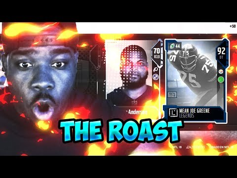 MEANEST GUY ON MUT JOE GREENE! I ROASTED THE CARD LOL! Madden 18 Ultimate Team Bundle Opening