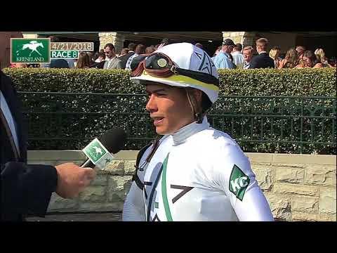 Jockey Jose Ortiz gets win #1500 at Keeneland