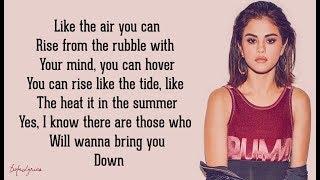 Rise - Selena Gomez (Lyrics) 🎵